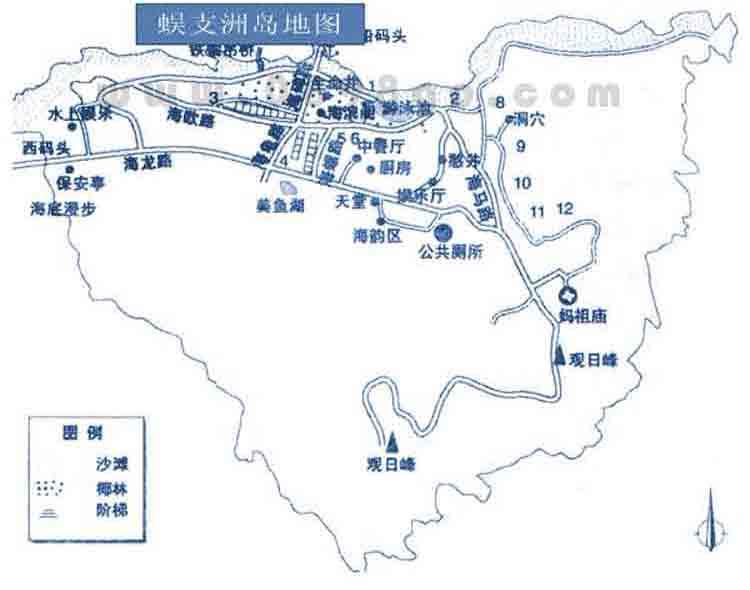 蜈支洲岛地图,海南图片库-安途旅游网