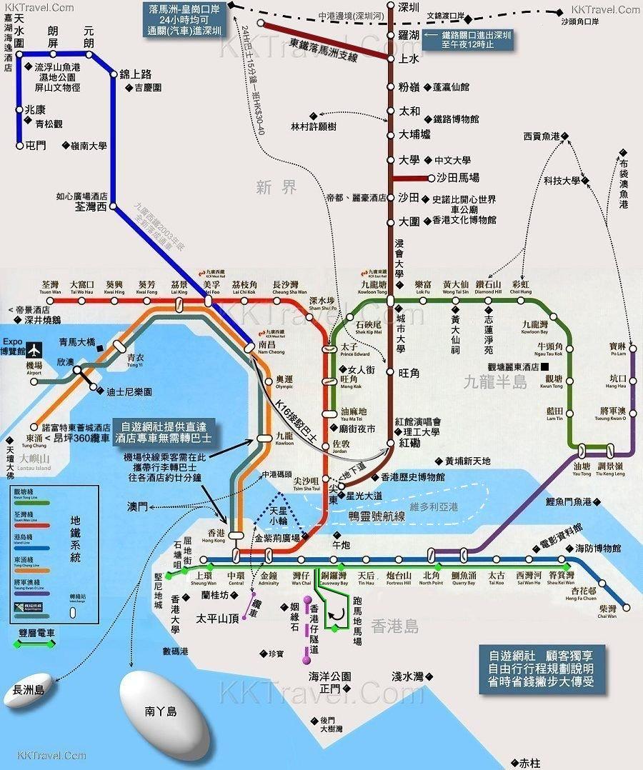 香港澳门地图